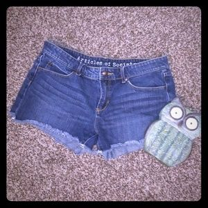 Articles of Society | Distressed Jean Shorts